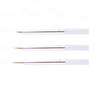 3 PCS Nail Art Tips UV Gel Acrylic DIY Painting Pen Brush Set Accessory