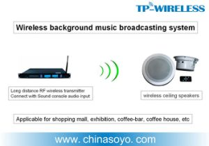 2.4GHz Wireless Ceiling Speakers for Conferences Room/Exhibition/Shopping Mall/Classrooms/Coffee House/Museums pictures & photos