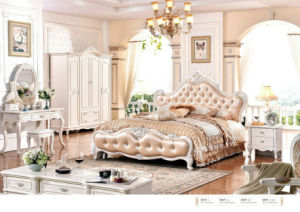 Hot Sell High Quality Royal Style Home Furniture for Bedroom Sets (6013) pictures & photos