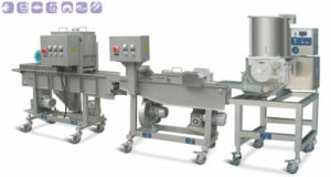 Mini Automatic Hamburger & Nuggets Forming and Coating Processing Machine Line