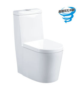 Sanitary Ware Siphonic One-Piece Ceramic Toilet Bowl Washroon Toilet