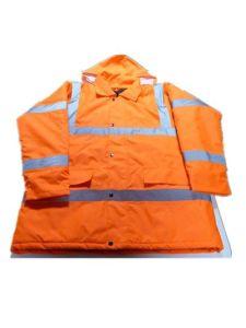 Flu Orange Jacket with Cotton pictures & photos