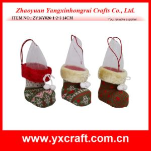 Christmas Decoration (ZY16Y026-1-2-3 14CM) Christmas Table Gift Shoes Boots pictures & photos