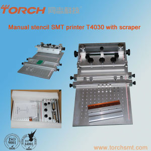 SMT Manual Stencil Printer / Manual Solder Paste Screen Printer T4030 pictures & photos
