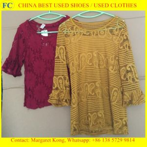 Used Clothing of Korean Style Fashion Chilffon Dress for African Market (FCD-002) pictures & photos