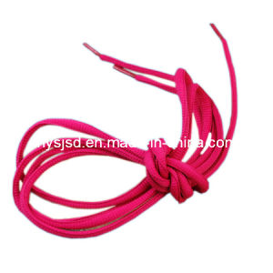 Wholesale Flat Polyester Red Shoelace pictures & photos