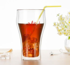 Creative Cup Coca-Cola Customized Double Wall Glass Cup pictures & photos