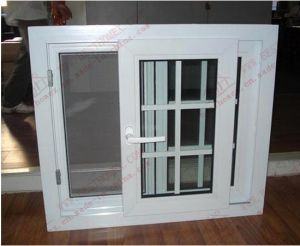 Energy-Saving PVC Sliding Window with Flyscreen (BHP-SW11) pictures & photos
