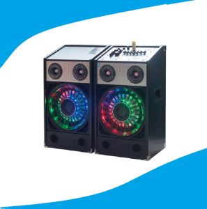 2.0 PA Multimedia Stage Speaker with Colorful Light Bt T238-16 pictures & photos