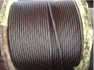 Ungal & Bright Steel Wire Rope 6X19+Iwrc with One Color Strand pictures & photos