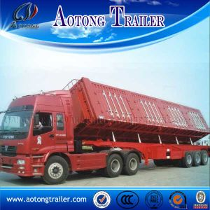 Tri Axles Coal Transport Side Dump/Tipper Semi Truck Trailer pictures & photos