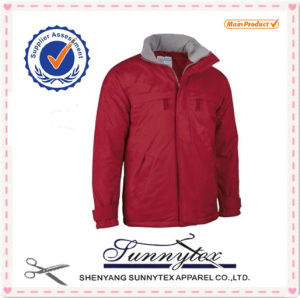 20107 Hot Sale Casual Windproof Polyester Fabric Men Winter Jacket pictures & photos