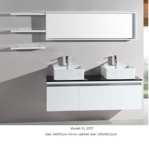 Bathroom Cabinet Double Sink Furniture with Mirror