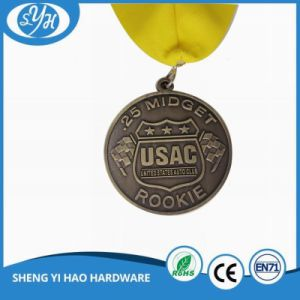 Wholesale Antique Soft Enamel Running Medal with Lanyard pictures & photos