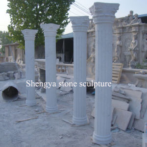 White Marble Stone Sculpture Column for Outdoor Decoration (SY-C012) pictures & photos