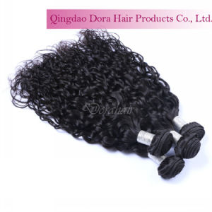 Natural Wavy Bundle Unprocessed Dyeable Indian Temple Virgin Hair Weave pictures & photos