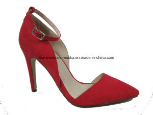 Two Colors Wholesale Lady Fashion High Heel Dress Footwear for Party pictures & photos