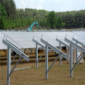 PV Panel Mounting Structure with Adjustable Rack