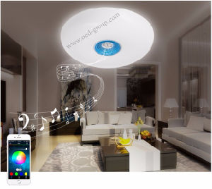 Mobile Phone Bluetooth Intelligent Dimming Smart RGB Music Ceiling Light Round Bedroom Lamp Living Room Lamp From China Supplier pictures & photos