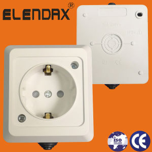 IP54 German Style Surface Mounted Wall Socket Outlet (S5010) pictures & photos