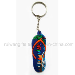 Custom Slipper PVC Rubber Key Chain pictures & photos