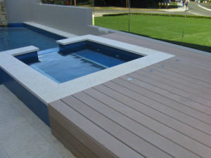 Wood Grain WPC Deck Flooring/Outdoor Decking Swimming Pool 140*25mm pictures & photos