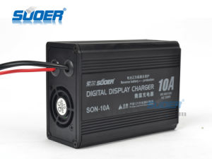 Suoer Digital Display Battery Charger 10A 12V Battery Charger with Reverse Protection (SON-10A) pictures & photos