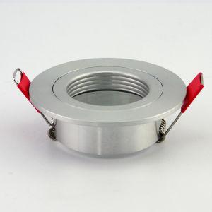 Lathe Aluminum GU10 MR16 Round Fixed Recessed LED Ceiling Light (LT2112) pictures & photos