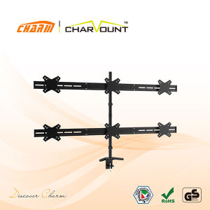 """Table Mount TV Bracket for 10""""-25"""", Wholesale Adjustable Height TV Bracket (CT-LCD-DS1105) pictures & photos"""