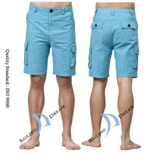 2014 Men′s Plaid Leisure Beach Shorts Pants (PS1227)