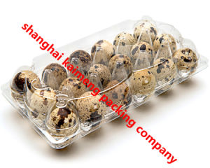 China 18units Clear Plastic Quail Egg Trays for Sale pictures & photos