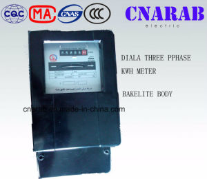 Three Phase Kwh Meter for Iraq Market (Bakelite cover and Bakelite base) pictures & photos