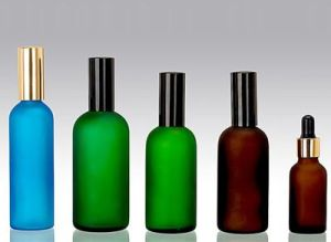 Glass Dropper Bottle for Essential Oil Green Blue Amber