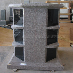 12 Niches Octagonal Columbaria, Pink Granite Columbarium