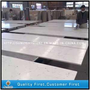 Engineered Artificial White Quartz Stone Slab for Kitchen Tops pictures & photos