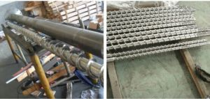 Single Screw and Barrel for Extruder / PE Blowing Screw Barrel / Screw and Barrel for PVC Foam Core Pipes pictures & photos