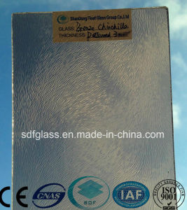 Tinted Patterned Glass-Bronze Chinchilla with Ce, ISO (3-8mm) pictures & photos