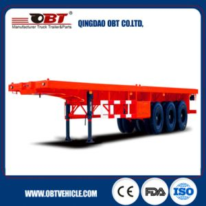Obt Brand Direct Factory 3 Axles 40FT Flatbed Container Trailer pictures & photos