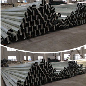 Polygonal Conical Galvanized Electric Steel Pole pictures & photos