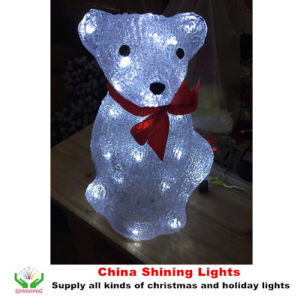 Acrylic Bear LED Decorative Lights White Color pictures & photos
