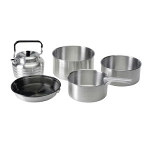 Camping Aluminum Cookware Set pictures & photos