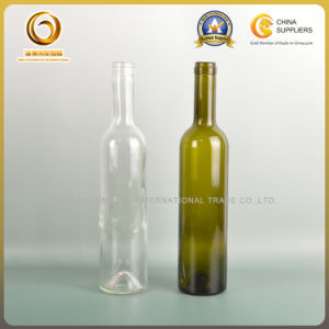Corked Top 500ml Green Wine Bottle Common Size (579) pictures & photos