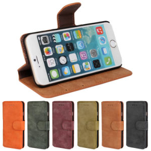Genuine Wallet Card Holder Leather Flip Case for iPhone 6 pictures & photos