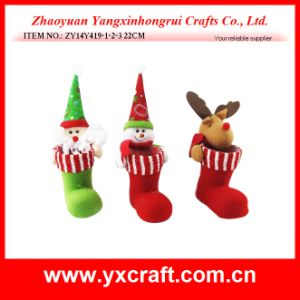 Christmas Decoration (ZY14Y419-1-2-3) Christmas Boot Santa Snowman pictures & photos
