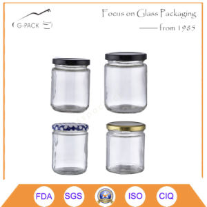 Cylinder Shape Glass Food Container with Caps pictures & photos