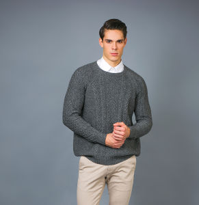 Men′ S Fashion Cashmere Blend Sweater 17brpv075 pictures & photos