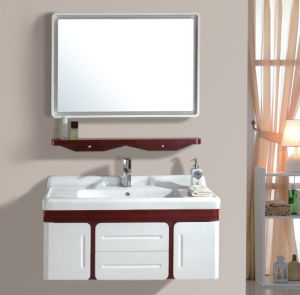 PVC Wall Mounted Vanity with Mirror (Ivory Color) pictures & photos