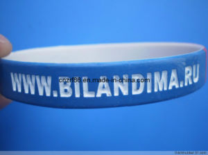 Professioanl Laser Engraving with Spray Painting Silicone Bracelet pictures & photos