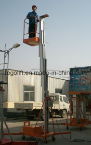 Ce Approved! Single Mast Aluminum Lift/Mobile Aluminium Work Platform pictures & photos
