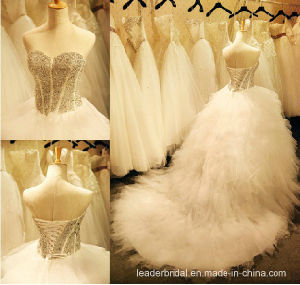 Beads Ball Gown Luxury Tulle Bridal Wedding Gownsh13908 pictures & photos